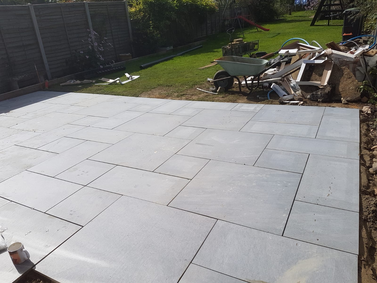 Natural Stone Patios in Rustall