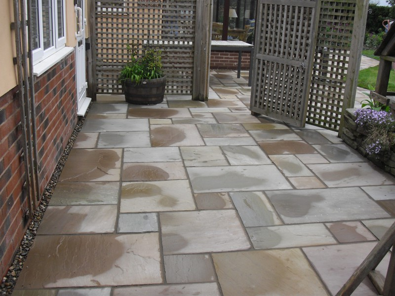 Tonbridge natural stone patios